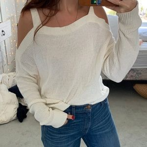 Express White Sweater